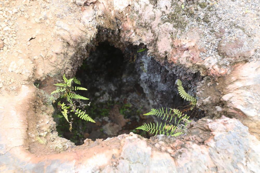 Fumarolenlöcher im Cerro Chico auf der Insel Isabela